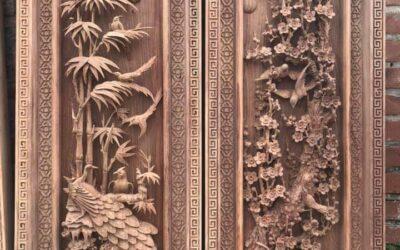 tranh gỗ tứ quý đục tay (6)