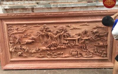 tranh đồng quê gỗ hương đá (1)