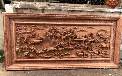 tranh đồng quê gỗ hương đá (2)