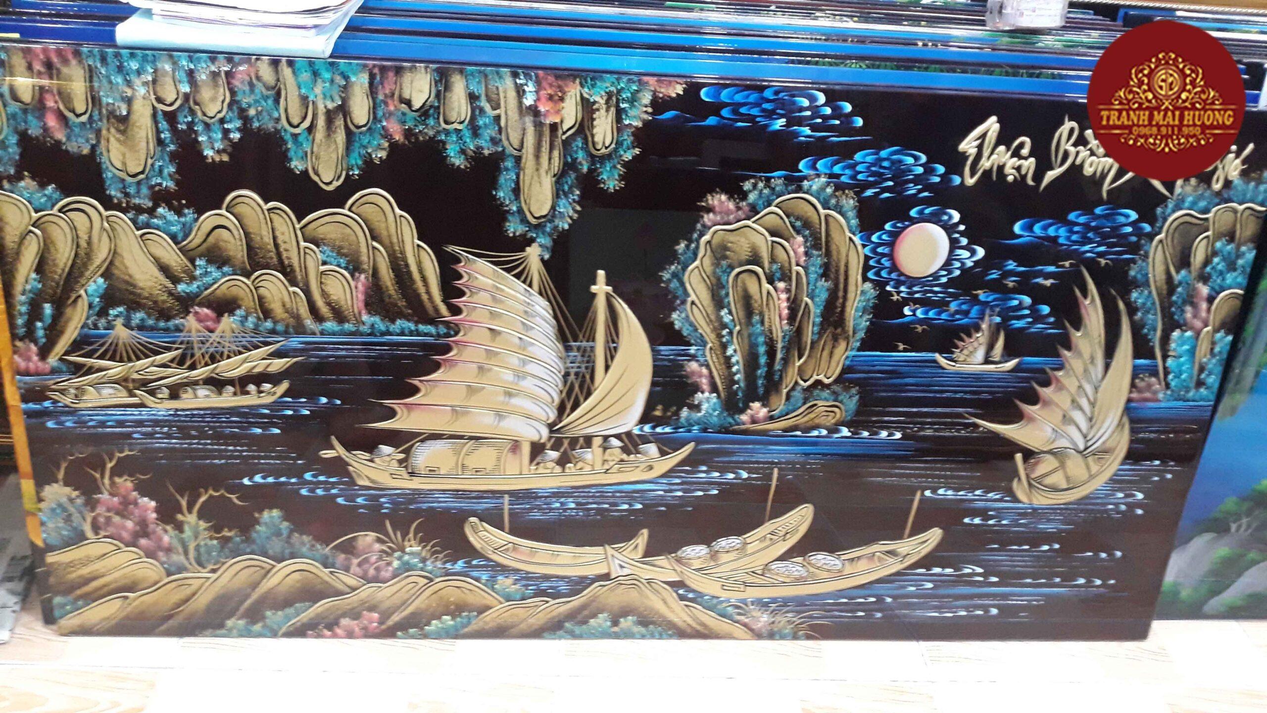 Tranh sơn mài thuận buồm xuôi gió - TB02