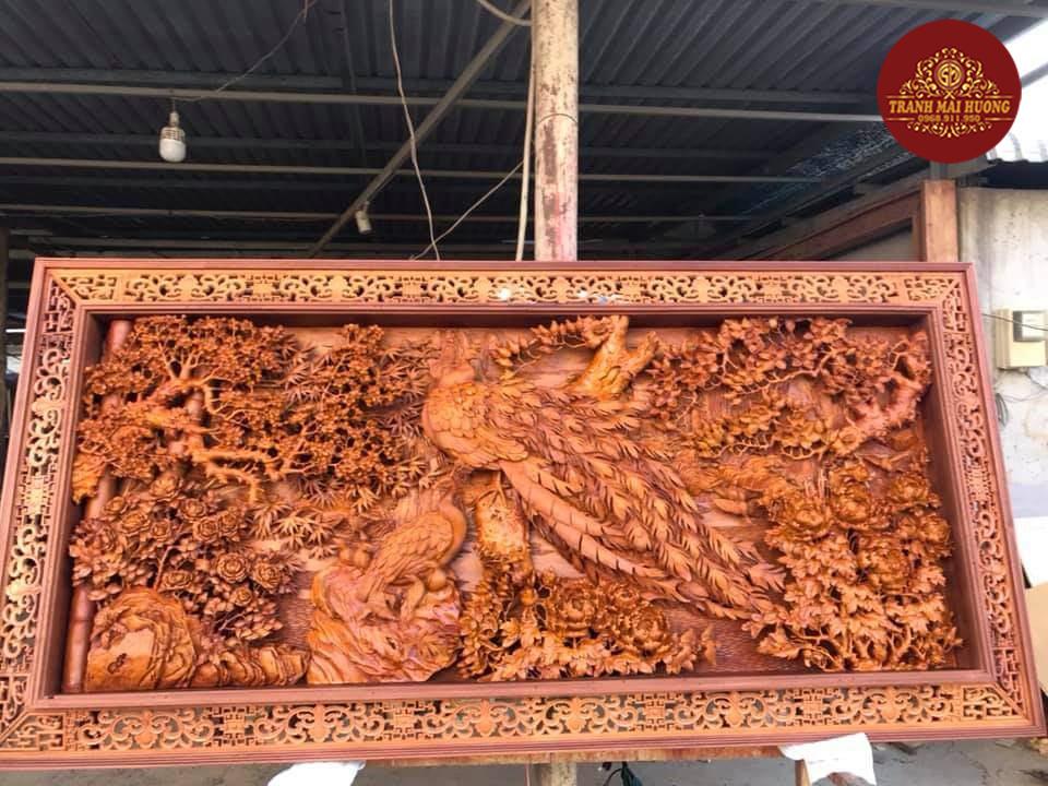 Tranh gỗ đẹp phu thê viên mãn treo tường