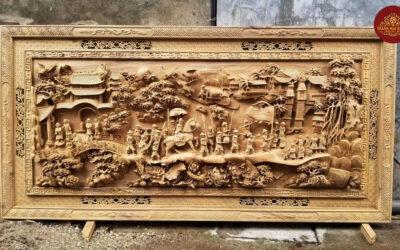 tranh gỗ vinh quy bái tổ (3)