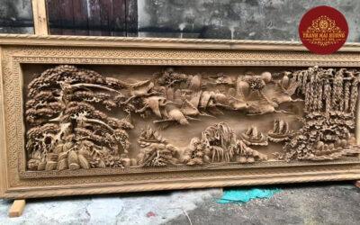 tranh gỗ sơn thủy hữu tình (1)